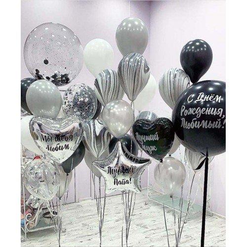 Украшение шарами на день рождение для мужчины