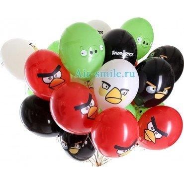 Воздушные шарики с Энгри Бёрдс