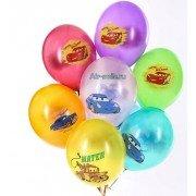 Воздушные шары с изображением героев мультфильма тачки