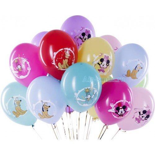 Гелиевые шары с Микки маусом и друзьями