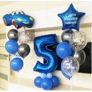 Цифра для мальчика с шарами на день рождение