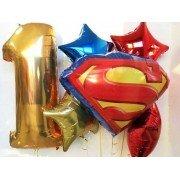 Цифра для мальчика и супермен золото
