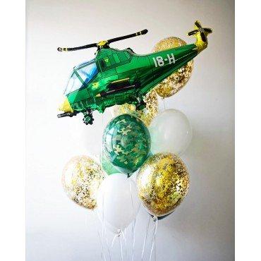 Шарики для мальчика и вертолёт