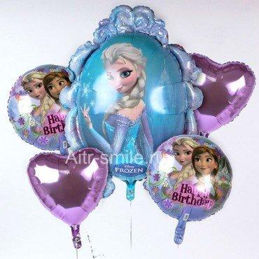 Фольгированные шарики с Анной и Эльзой