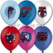 """Воздушные шары с рисунком """"Человек Паук"""""""