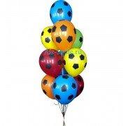 """Воздушные шары с рисунком """"Футбольные мячи"""""""