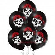 """Воздушные шары с рисунком """"Череп в бандане"""""""
