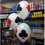 """Воздушные шары с рисунком """"Карты"""""""