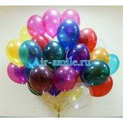 Воздушные разноцветные шарики кристалл