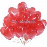 Воздушные шарики красные сердца