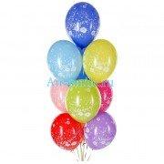 """Воздушные шарики металлик с рисунком """"С Юбилеем"""""""