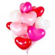 Гелевые шарики сердца микс