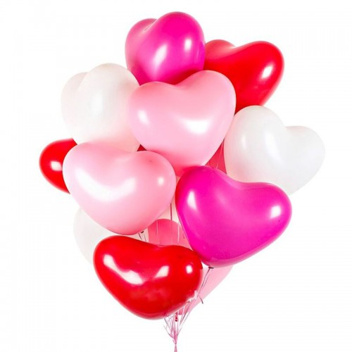 Гелиевые шары в виде сердечек