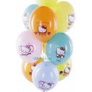 """Воздушные шары с рисунком """"Hello Kitty"""""""