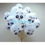 """Воздушные шары с рисунком """"Весёлая панда"""""""