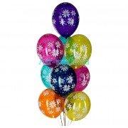 """Воздушные шары с рисунком """"Ромашки кристалл"""""""