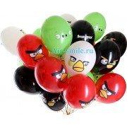 """Воздушные шары с рисунком """"Angry Birds"""""""