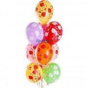"""Воздушные шары с рисунком """"Клубничка"""""""