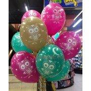 """Воздушные шары шелк с рисунком """"Совушки"""""""