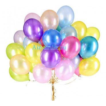 Гелиевые шары металлик разноцветные