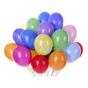 Разноцветные гелиевые шары (пастель)