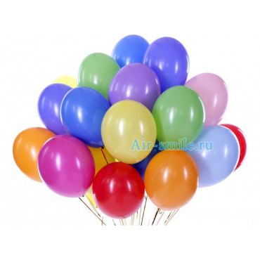 Гелиевые шары разноцветные